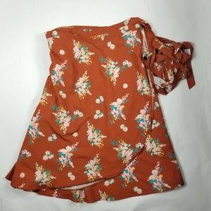 Eshaktii wrap skirt  Onesize burnt orange